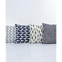 1 szt Bielizna Poszewka na poduszkę,Upiększać i haftowane Geometryczny Modern / Contemporary