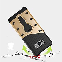Samsung Galaxy S8 plus S8 suojus iskunkestävä jalustalla 360 kierto takakansi tapauksessa panssari kovaa pc S7 reuna S7 S6 reuna plus s6