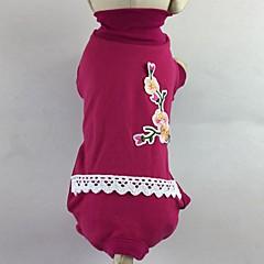 Kot Pies T-shirt Kombinezon Piżama Spodnie Ubrania dla psów Codzienne Kwiatowy/roślinny Rose Green
