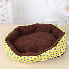 침대 애완동물 매트&패드 포카닷 옐로우 블루 핑크