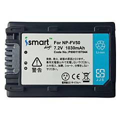 Ismartdigi fv50 7.2v μπαταρία φωτογραφικής μηχανής 1030mah για τη Sony pj610 pj675 cx450 axp55 pj820e ax40