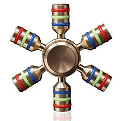 Stresszoldó pörgettyűk Kézi Spinner Játékok Játékok Kerámia Sárgaréz EDCStressz és szorongás oldására Office Desk Toys Enyhíti ADD, ADHD,