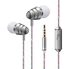 soyto KDK 204 Fülben Vezetékes Fejhallgatók Dinamikus Mobiltelefon Fülhallgató Mikrofonnal A hangerőszabályzóval Sztereó Fejhallgató