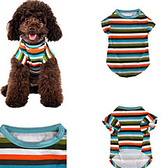 Perro Camiseta Ropa para Perro Casual/Diario Rayas Arco iris
