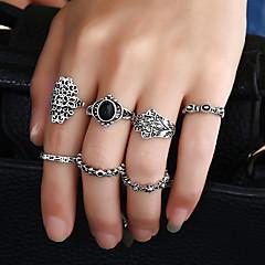 Dame Båndringe Ring Manchet ring Rundt design Akryl Mode Metallegering Harpiks Legering Cirkelformet Rund form Smykker TilFødselsdag Fest