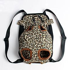 Kedi / Köpek Taşıyıcı & Seyahat Sırt Çantaları / ön Sırt Çantası Evcil Hayvanlar Kılıflar Taşınabilir / Leopar Çoklurenk Kumaş