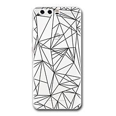 Huawei P10 P9 esetben terjed átlátszó minta hátlap esetében geometrikus minta puha TPU Huawei P10 plusz P9 lite P9 plusz P8 P8 lite