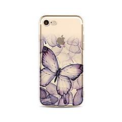 Kotelo iphone 7 plus 7 kattaa läpinäkyvä kuvio takakansi tapauksessa perhonen pehmeä tpu omena iphone 6s plus 6 plus 6s 6 se 5s 5c 5 4s 4