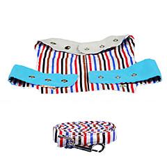 Harness Leash Portable Stripe Nylon