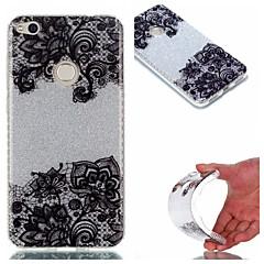 Voor Hoesje cover IMD Achterkantje hoesje Lace Printing Glitterglans Zacht TPU voor HuaweiHuawei P9 Huawei P9 Lite Huawei P8 Lite Huawei