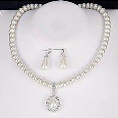 Dames Bruidssieradensets Imitatie Parel imitatie Diamond Klassiek Kostuum juwelen Vintage Euramerican Legering Ronde vorm Voor Feest