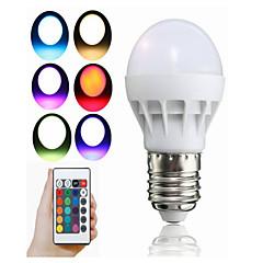 3W LED Smart Bulbs A50 1 Integrate LED 100 lm RGB Remote-Controlled Decorative AC85-265 V 1 pc