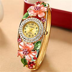 여성용 패션 시계 손목 시계 석영 합금 밴드 멀티컬러