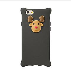 Caso para maçã iphone 7 plus 7 capa padrão de prova de choque capa de capa traseira cartoon 3d silicone macio 6s mais 6 mais