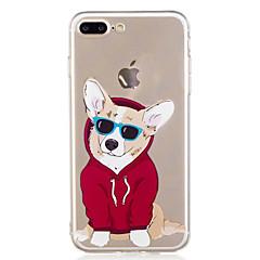Kompatibilitás iPhone X iPhone 8 tokok Minta Hátlap Case Kutya Rajzfilm Puha Hőre lágyuló poliuretán mert Apple iPhone X iPhone 8 Plus
