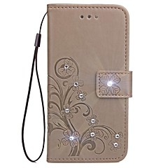 Case for Samsung Galaxy Grand Prime G530 Core Prime G360 Wallet Rhinestone Embossed Pattern Case for Samsung Galaxy Trend Duos(S7562) On5 C5 C7