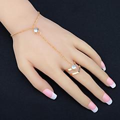 Női Gyűrű karkötők Strassz Divat jelmez ékszerek Strassz Ötvözet Circle Shape Ékszerek Kompatibilitás Parti Születésnap Parti /Estélyi