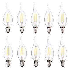 2W Żarówka dekoracyjna LED C35 2 COB 200 lm Ciepła biel Biały Przysłonięcia AC 220-240 V 10 sztuk