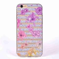 Caso per il iphone 7 7 copertura traslucida del modello di copertura posteriore del tpu del fiore di caso per iphone 6 6s 6s più 5s 5 se