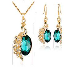 Damskie Bridal Jewelry Sets Szmaragd sztuczna Diament Modny Animal Shape Na Wydarzenie / impreza Na co dzień Prezenty ślubne