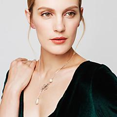 Γυναικεία Κρεμαστά Κολιέ Coliere cu Perle Leaf Shape Μαργαριτάρι Απομίμηση Μαργαριταριού Κράμα Βασικό Προσαρμόσιμη Μοντέρνα Κοσμήματα Για