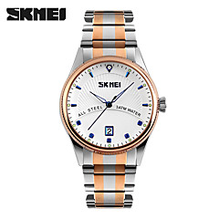 Men's Wrist watch Quartz Stainless Steel Band Silver