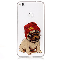 Taske til huawei p8 lite (2017) p10 lite telefon taske tpu materiale imd proces hund mønster hd flash pulver telefon taske p9 lite p8 lite