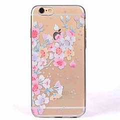 Caso para iphone 7 7 mais capa translúcida padrão tampa traseira caso flor de cerejeira suave tpu para iphone 6s mais 6 5s 5 se