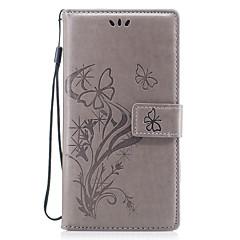 Taske til huawei p10 p8 lite (2017) cover til sommerfugl kærlighed blomst præget mønster pu materiale kort stent tegnebog taske p10 lite