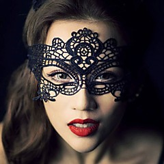 Maskeli parti fantezi elbise kostüm için 1adet sıcak satış siyah seksi bayan dantel maske göz maskesi / halloween parti fantezi
