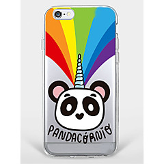 Etui til iphone 7 plus iphone 6 panda mønster telefon soft shell til iphone 7 iphone6 / 6s plus iphone6 / 6s iphone5 5s se