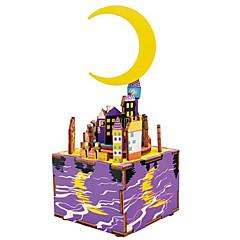 Palapelit DIY-setti Puiset palapelit Rakennuspalikoita DIY lelut Kuuluisa rakennus MOON Cartoon Composite