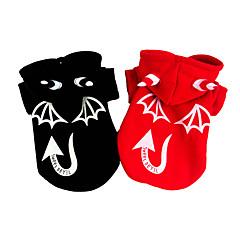 Pies Kostiumy Płaszcze Ubrania dla psów Halloween Anioł i Diabeł Black Czerwony