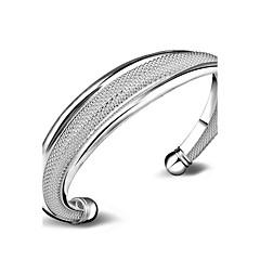 Dames Cuff armbanden Sieraden Modieus Koper Verzilverd Cirkelvorm Sieraden Voor Bruiloft Speciale gelegenheden Dagelijks gebruik