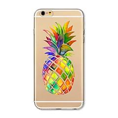 Θήκη για iphone 7 plus 7 κάλυψη διαφανές πρότυπο πίσω κάλυμμα περίπτωση φρούτα ανανά μαλακό tpu για apple iphone 6s plus 6 plus 6s 6 se 5s