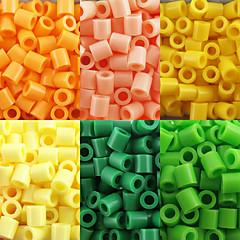 ca 500pcs / pose 5mm sikringsholdere perler Hama perler diy puslespil EVA materiale olietankeren for børn (assorteret 6 farve, B17-B24)
