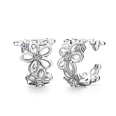 Silver Plated Clip Earrings Earrings Wedding Party Daily Casual 2pcs