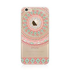 Kotelo iphone 7 plus 7 kattaa läpinäkyvä kuvio takakannen tapauksessa mandala pehmeä tpu apple iphone 6s plus 6 plus 6s 6 se 5s 5c 5 4s 4