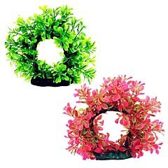 Dekoracja Aquarium Kwiaty Plastik