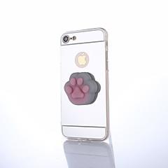 Voor iPhone 8 Plus Hoesje cover Spiegel DHZ squishy Achterkantje hoesje Kat Effen Kleur 3D Cartoon Hard PC voor Apple iPhone 7s Plus