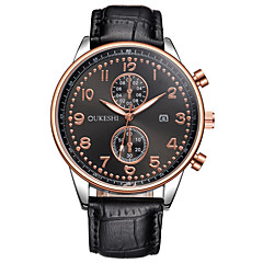 Ανδρικά Ρολόι Φορέματος Μοδάτο Ρολόι Καθημερινό Ρολόι Ρολόι Καρπού Μοναδικό Creative ρολόι Κινέζικα Χαλαζίας Ημερολόγιο Μεγάλο καντράν