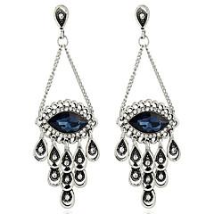 Γυναικεία Κρεμαστά Σκουλαρίκια Στρας απομιμήσεις Sapphire Πεπαλαιωμένο Εξατομικευόμενο Υπερμεγέθη Κράμα Κρεμαστό Μάτι Τίγρης Κοσμήματα Για
