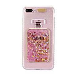 Käyttötarkoitus iPhone 8 iPhone 8 Plus kotelot kuoret Virtaava neste LED salamavalo Kuvio Takakuori Etui Kimmeltävä Pehmeä TPU varten