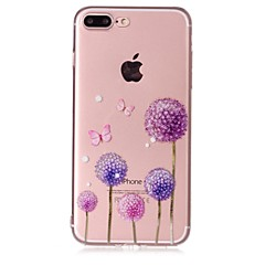Taske til Apple iPhone 7 7 plus case cover dandelion mønster føler lak relief høj penetration tpu materiale telefon taske til iPhone 6s 6