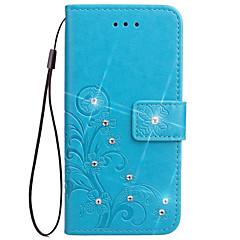 Hoesje voor Samsung Galaxy Note 3 notitie 2 hoesje hoesje kaarthouder met tribune flip reliëf full body hoesje bloem hard pu leer voor
