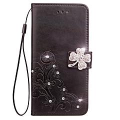 Tok Sony Sony Xperia z3 compact z5 kompakt hordtáska kártya tartó tartó pénztárca strassz flip dombornyomott teljes test tok virág kemény