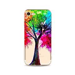 Hoesje voor iphone 7 plus 7 hoesje transparant patroon achterhoes hoes kleurverloop boom zacht tpu voor apple iphone 6s plus 6 plus 6s 6