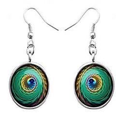 Γυναικεία Κρεμαστά Σκουλαρίκια Κοσμήματα Βασικό Πεπαλαιωμένο Βοημία Style κοστούμι κοστουμιών Γυαλί Round Shape Κοσμήματα Για Άλλα