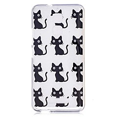 Voor asus zenfone 3 max zc520tl case cover cartoon kat patroon back cover soft tpu
