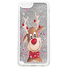 Til iPhone X iPhone 8 iPhone 8 Plus iPhone 7 iPhone 7 Plus Etuier Flydende væske Mønster Bagcover Etui Glitterskin Jul Hårdt PC for Apple